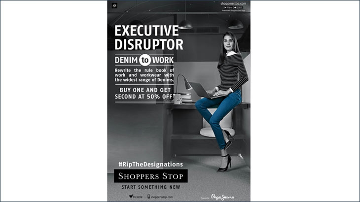 Shoppers Stop campaign 'Denim to Work'