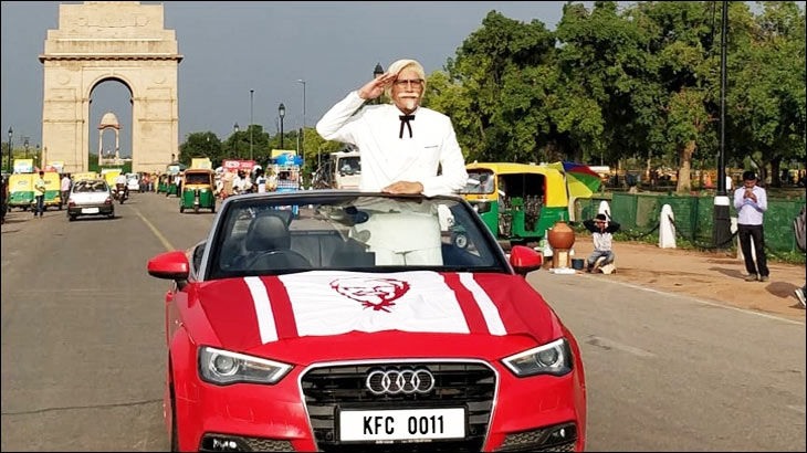 KFC's Colonel Sanders at India Gate, Delhi