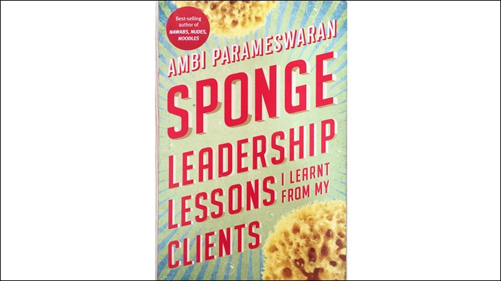 Sponge - Leadership Lessons I Learnt From My Clients - a photo of the front cover of the book