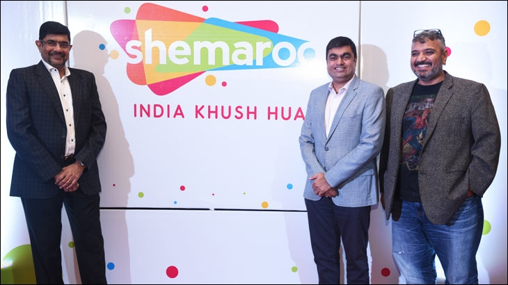 L-R - Atul Maru, Joint MD, Shemaroo Entertainment Limited, Hiren Gada, CEO, Shemaroo Entertainment Limited and Kunal Jeswani, CEO, Ogilvy India
