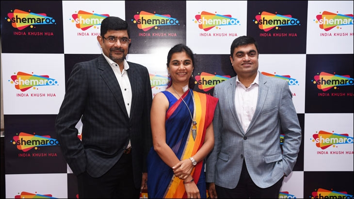 L-R - Atul Maru, Joint MD, Shemaroo Entertainment Limited, Kranti Gada, COO, Shemaroo Entertainment Limited, Hiren Gada, CEO, Shemaroo Entertainment Limited