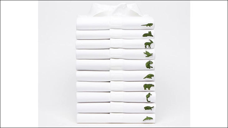 Lacoste collection with tweaked logos