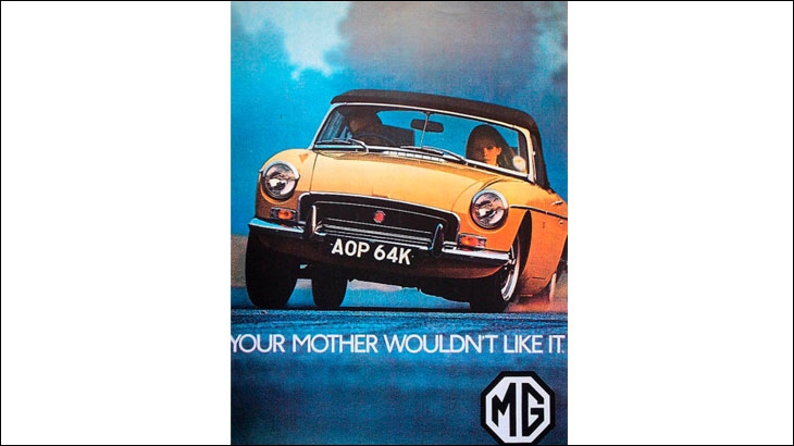 MG poster from the 1960s
