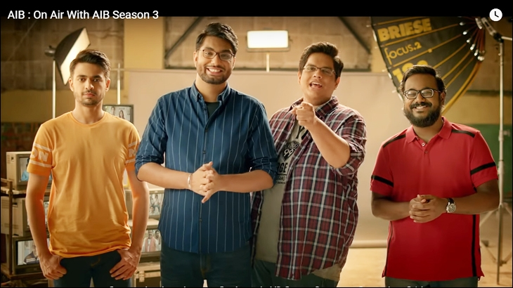 A still from On Air with AIB Season 3 promo