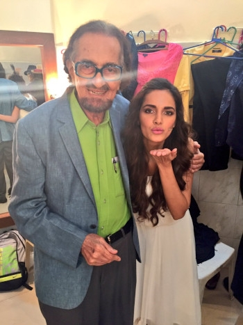 Alyque Padamsee with daughter Shazahn Padamsee