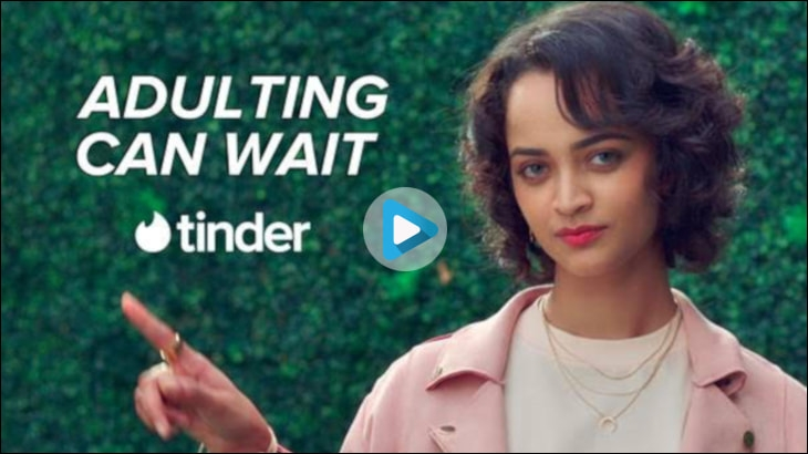 Watch the ad here by Tinder - Adulting Can Wait