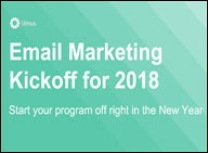 Email Marketing Kickoff for 2018