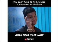 Adulting can wait says Tinder in new ads