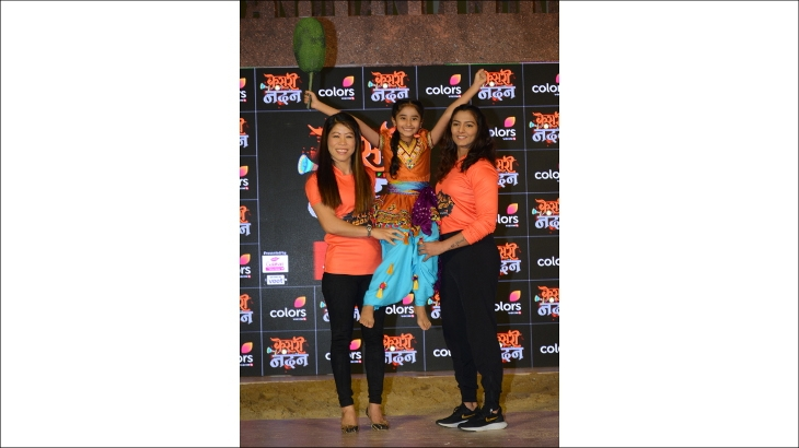 Geeta Phogat, Chahat Tewani and Mary Kom
