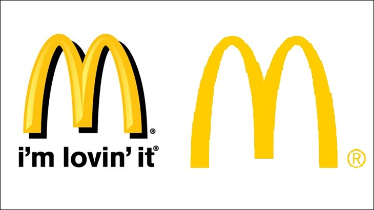 McDonald's dropped the name in and dropped all the text in 2006