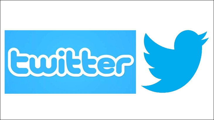 (Right) Twitter logo from June 2012