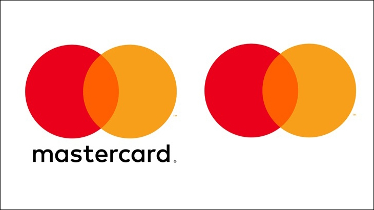 Mastercard logo before - after