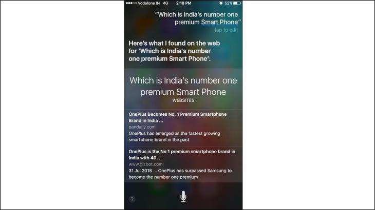 Siri's result