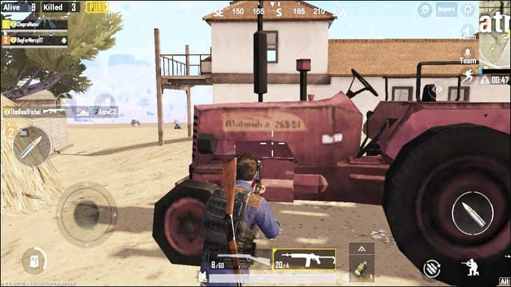 Mahindra Tractor in PUBG