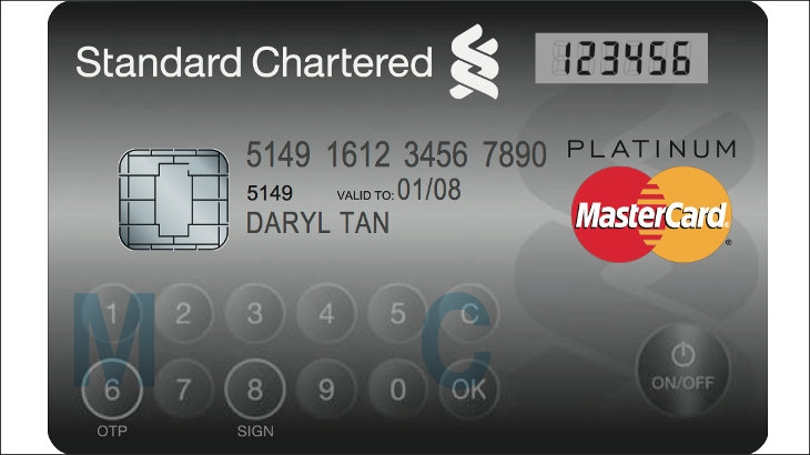 Standard Chartered MasterCard Display Card