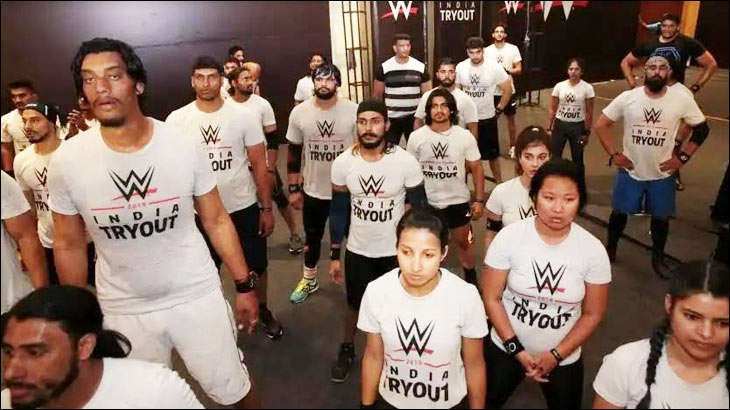 Indian applicants at WWE India Tryout