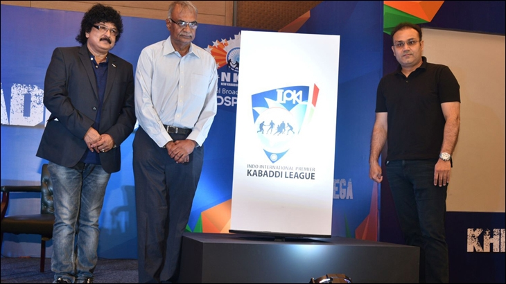 L to R: Ravi Kiran - Director, IPKL, RC Venkateish - MD & CEO, Lex Sportel and Virender Sehwag unveil IPKL logo at the event