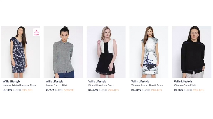 E-retailers like Myntra still carry Wills Lifestyle's old collection