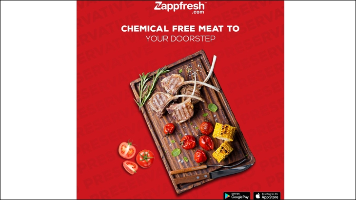 Zappfresh digital ad on Twitter
