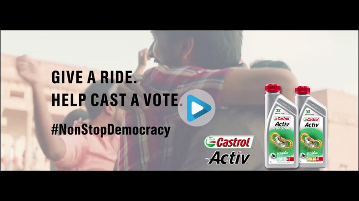 Castrol Activ, the automotive and industrial lubricant manufacturing brand and Indian subsidiary of British Petroleum, rolled out its recent marketing campaign titled - #NonStopDemocracy - set against the backdrop of the ongoing Indian general elections