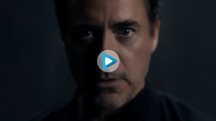 Robert Downey Jr. in an ad for the newly released OnePlus 7 series of phones
