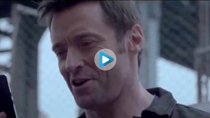 Hugh Jackman in an ad for Micromax Canvas Sliver 5