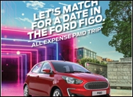 Ford Figo to take lucky matches on Tinder out for an evening ride