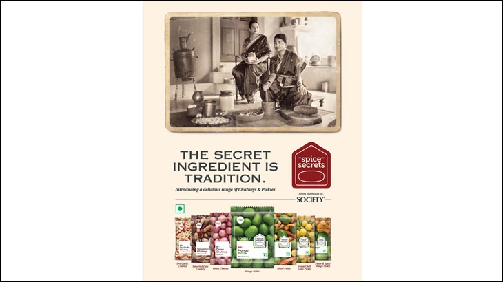 Vintage-ish print ad to launch new product