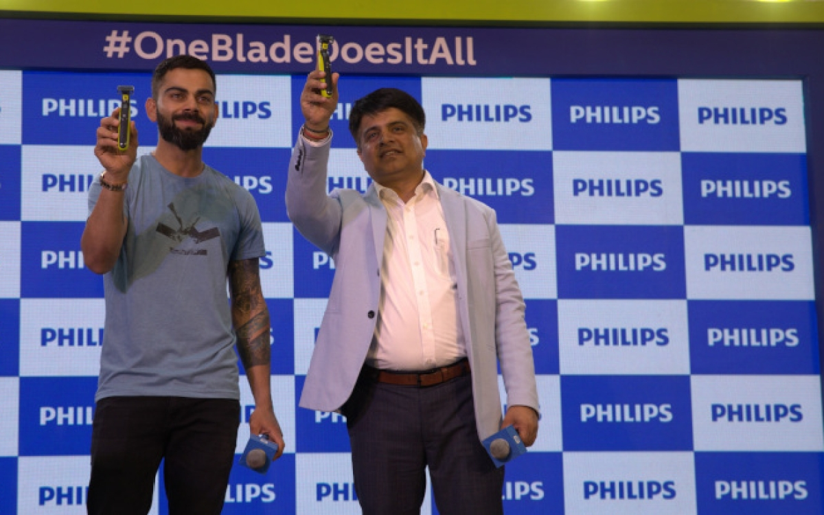 Virat Kohli launches Philips OneBlade