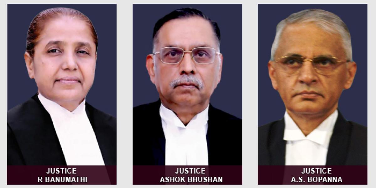 Jusices R Banumathi, Ashok Bhushan and AS Bopanna