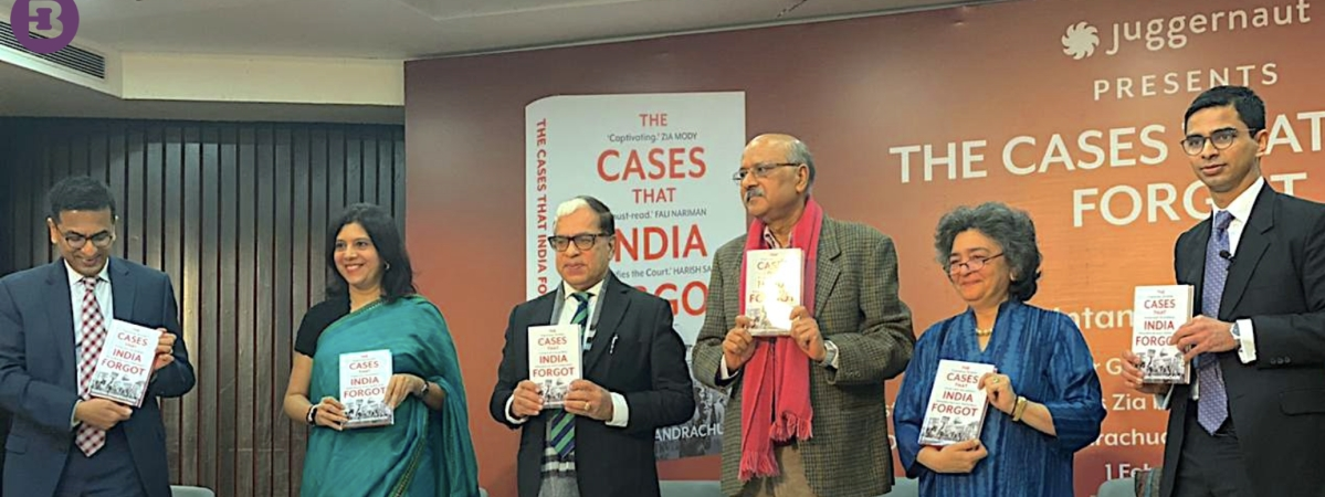 Justice DY Chandrachud, ASG Madhavi Divan, Justice AK Sikri, Shekhar Gupta, Zia Mody and Chintan Chandrachud