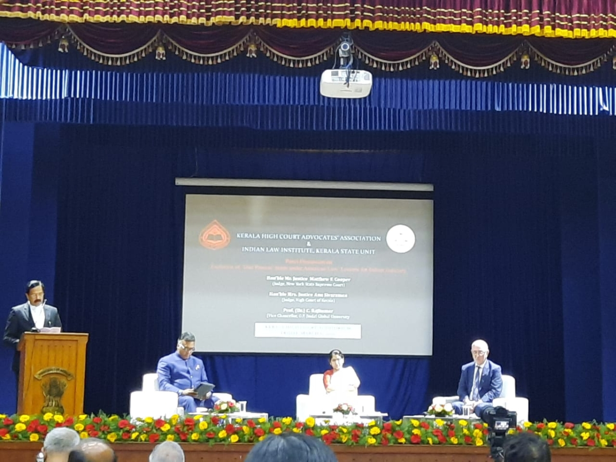 """How has the """"due process"""" norm shaped Indian and American jurisprudence? Legal experts discuss in Kerala High Court"""