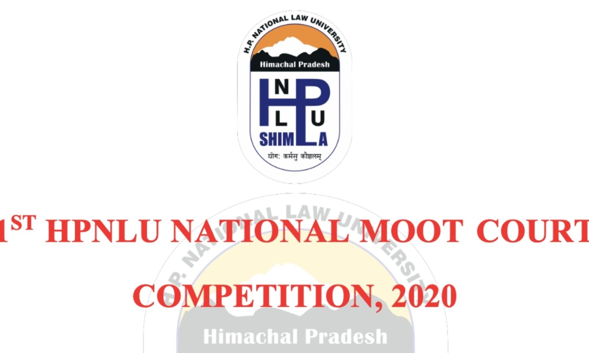 1st HPNLU National Moot Court Competition, 2020