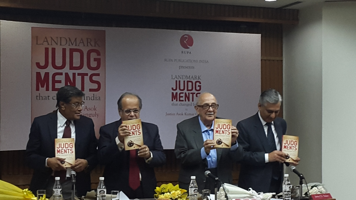 Advanced communities are screeching for reservation – Fali Nariman at AK Ganguly's book launch