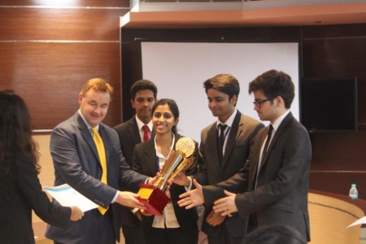 The runners up team from NLU Odisha
