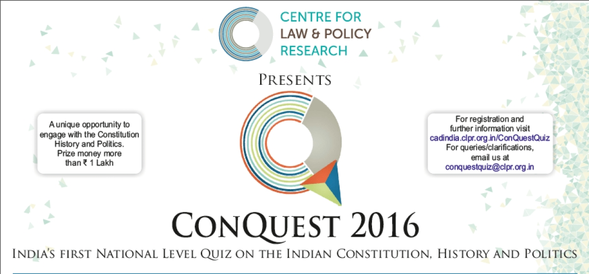 #Events: CLPR to conduct ConQuest, India's first national level quiz on Indian Constitution