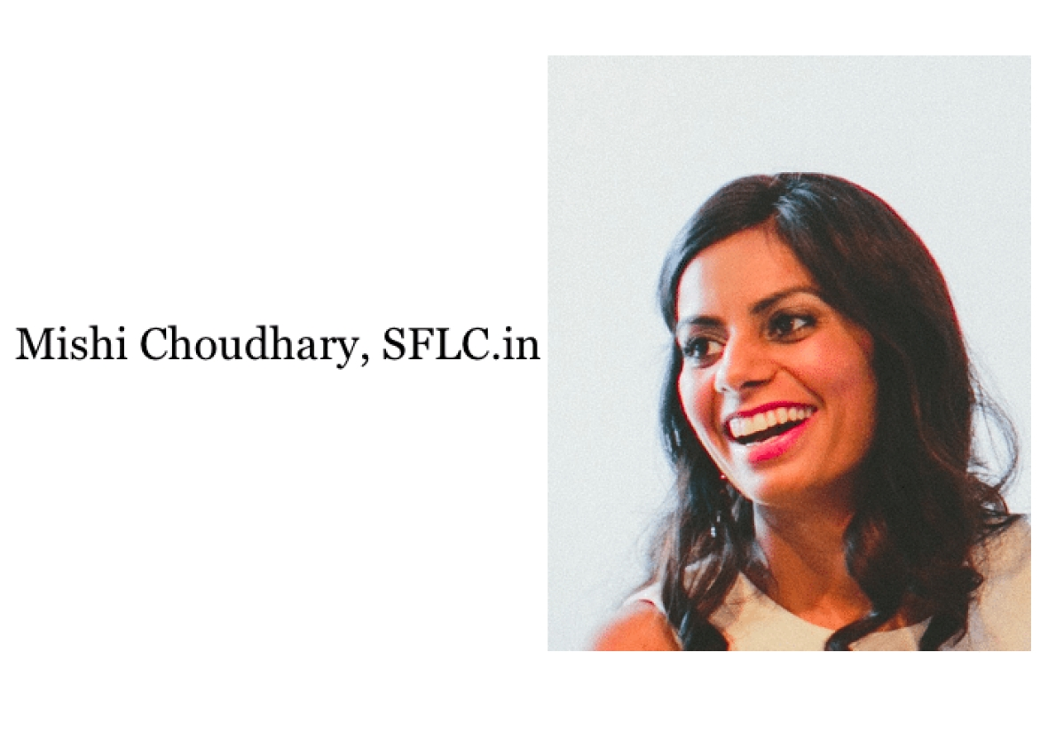 Mishi Choudhary, on the three legged stool: Law, Tech & Policy