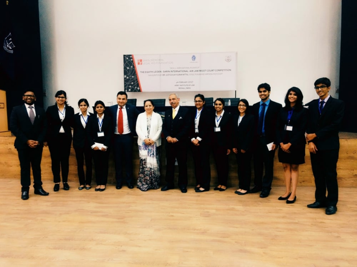 NUJS, RMLNLU and NLU-J clear National Rounds of Leiden Sarin International Air Law Moot 2017