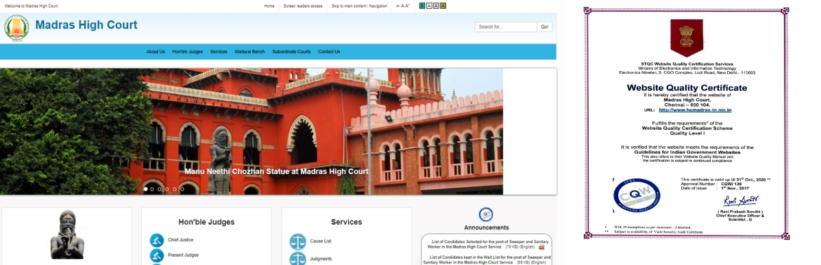 Madras High Court launches revamped website, first to comply with GIGW