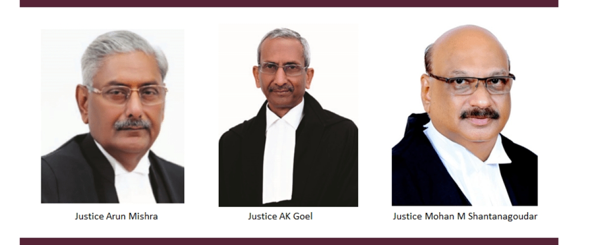The Bench of Justices Arun Mishra, AK Goel and Mohan M Shantanagoudar had by a 2:1 majority held Pune Municipal Corporation to be per incuriam.