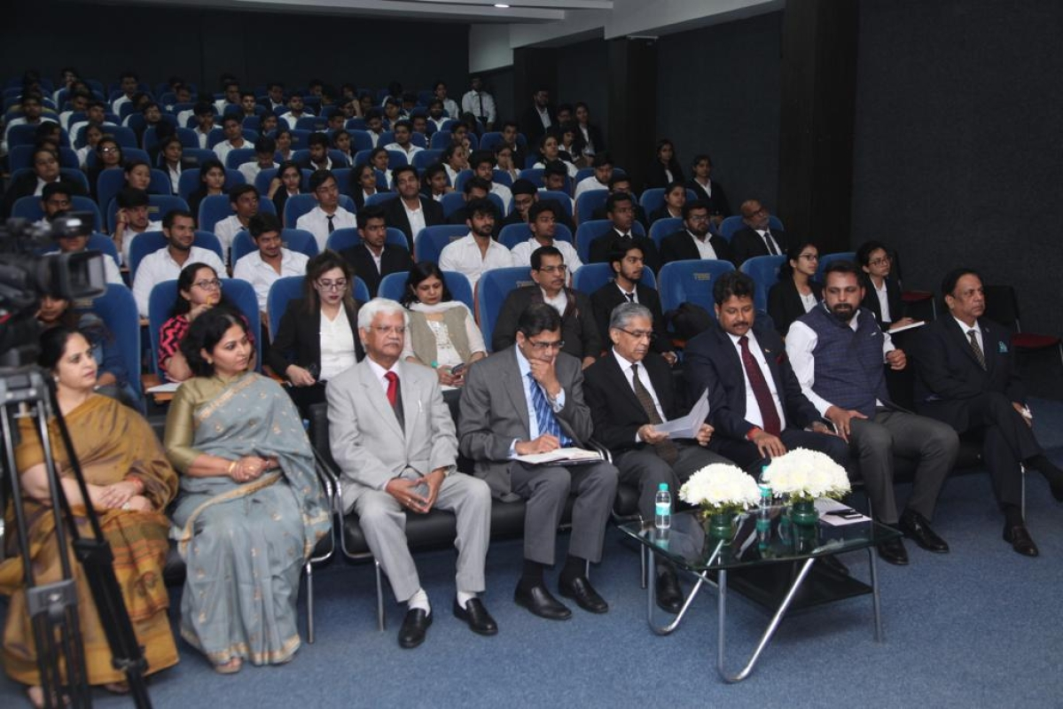 Justice BD Ahmed, Arvind Datar speak at launch of Expert Lecture series at Manav Rachna University