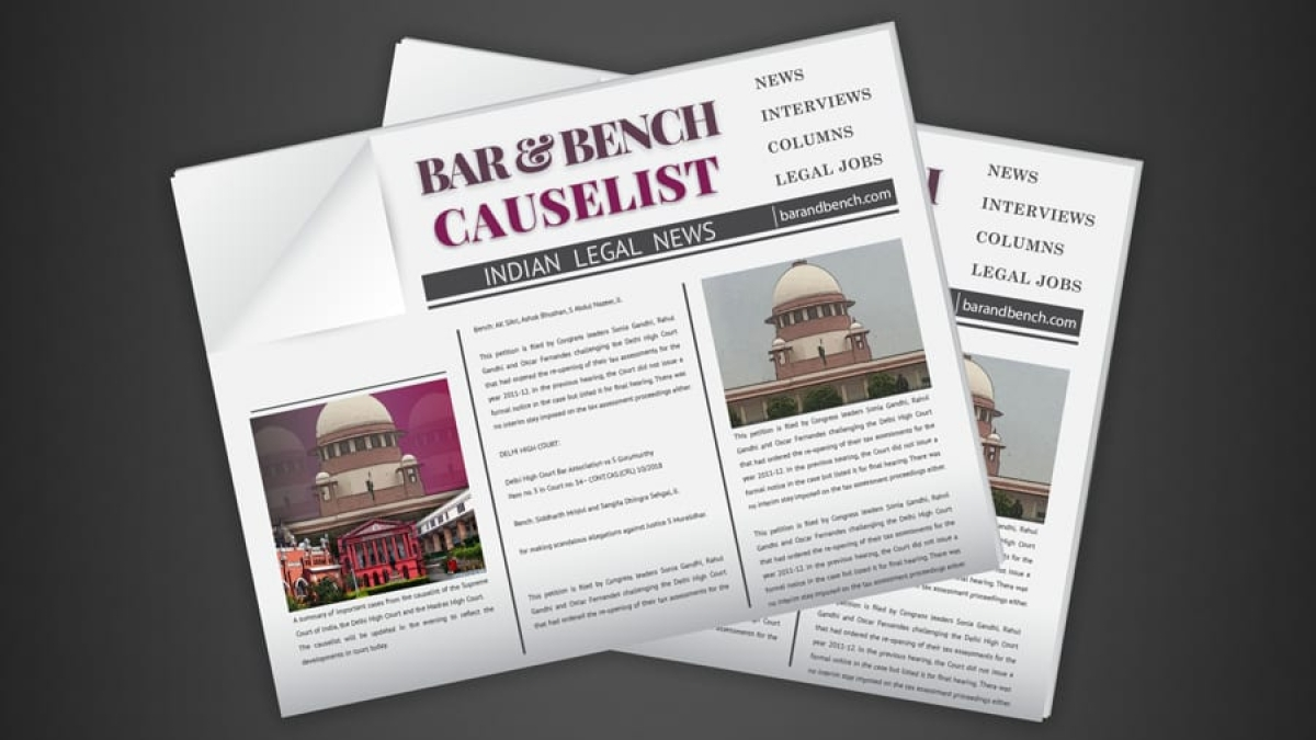 The B&B Causelist #135: Cases we track today