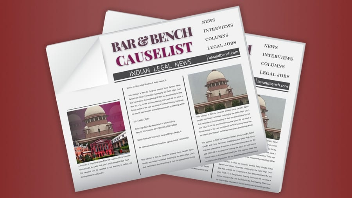 The B&B Causelist #204: Cases we track today