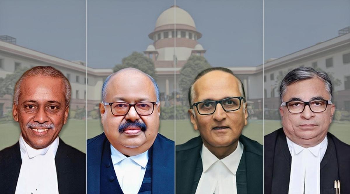 Centre notifies appointment of Justices V Ramasubramanian, Krishna Murari, S Ravindra Bhat, Hrishikesh Roy as Supreme Court judges