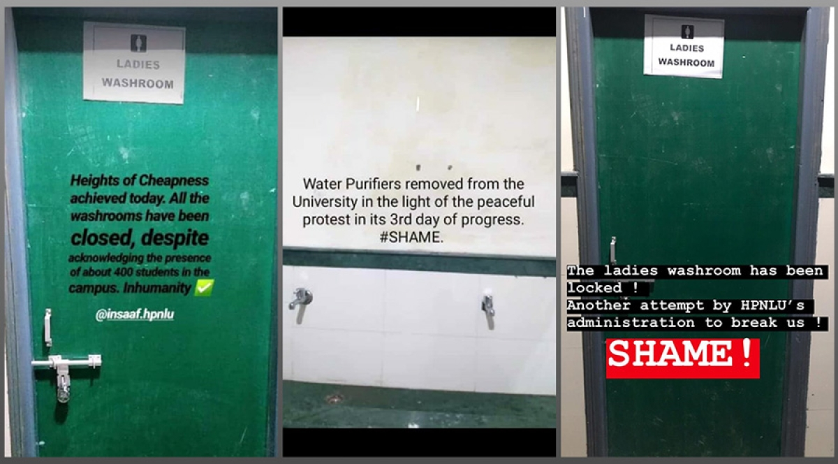 HPNLU Protests: Washrooms sealed off, drinking water facilities removed as protest enters Day 3