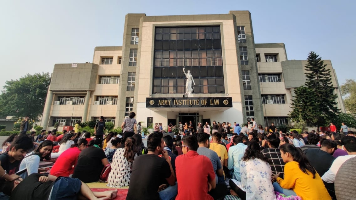 Students of Army Institute of Law protest arbitrary rules, administrative high-handedness