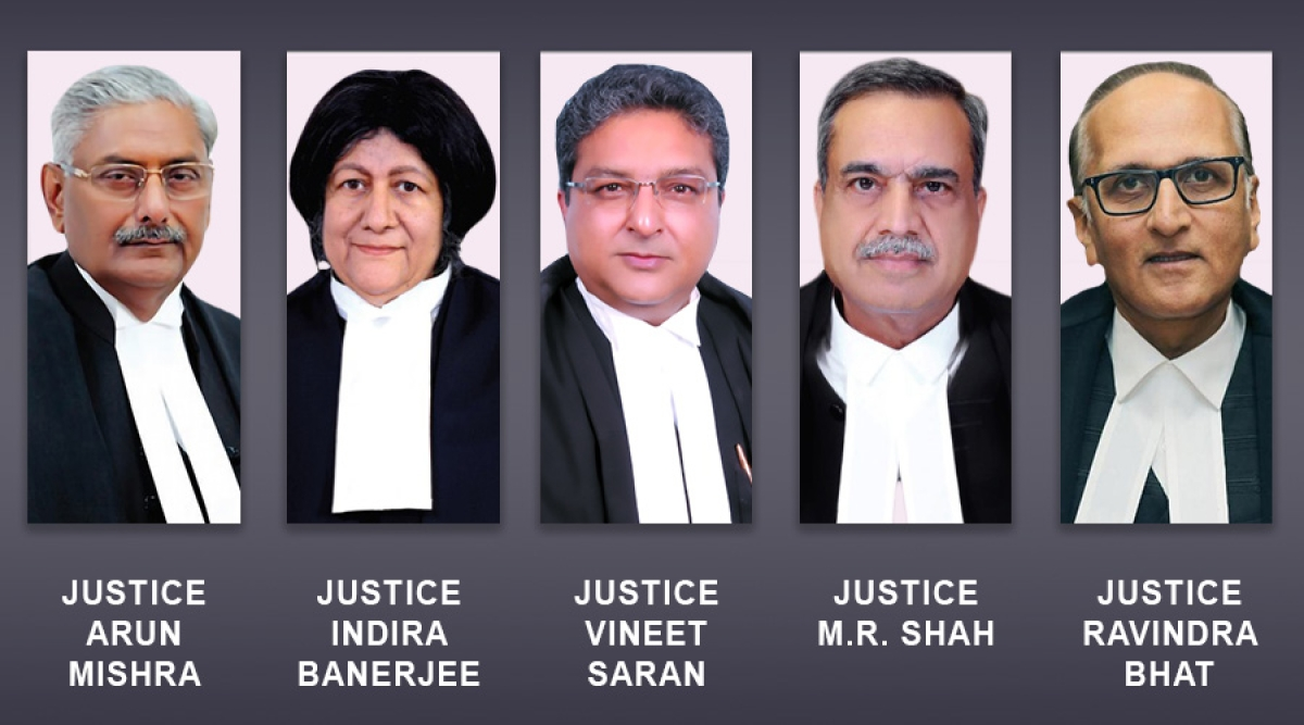 Constitution Bench headed by Justice Arun Mishra to hear five cases starting October 15