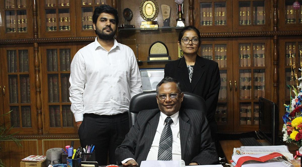 Advocates Kunwar Aditya Singh and Akriti Chaubey with Advocate Ejaz Maqbool