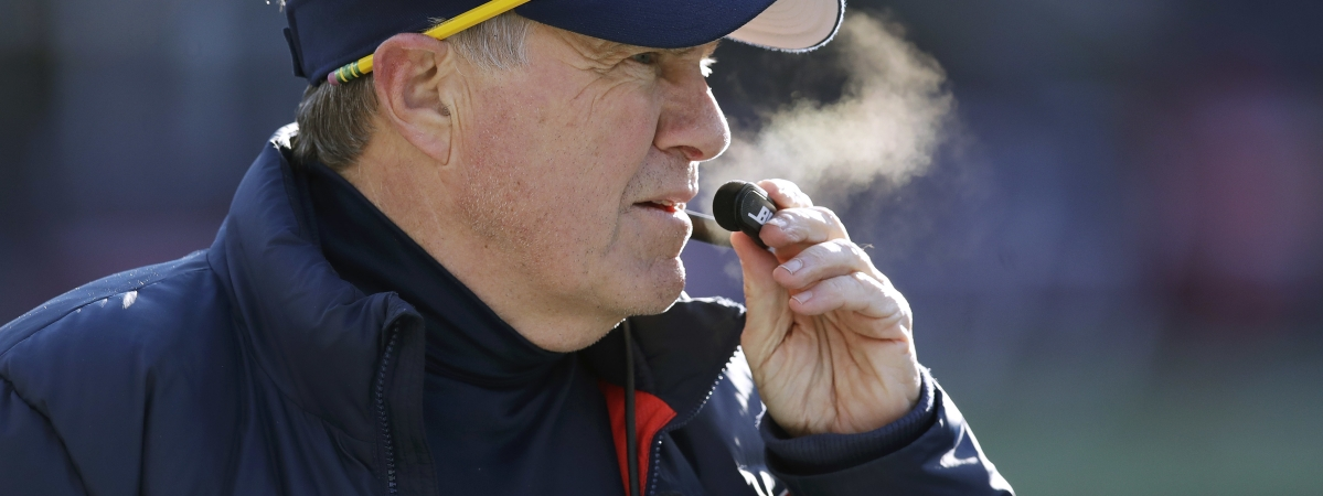 New England Patriots head coach Bill Belichick watches from the sideline during the first half of an NFL football game against the New York Jets, Sunday, Dec. 30, 2018, in Foxborough, Mass. (AP Photo/Charles Krupa)