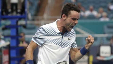 Roberto Bautista Agut, of Spain, at the Miami Open tennis tournament on March 26, 2019, now plays on the clay courts of Munich.